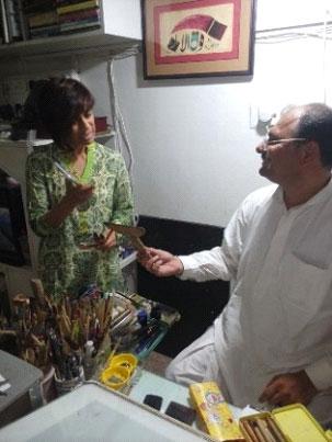 inside raashid seyal's studio